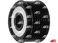 Шкив. Обгонная муфта генератора Ford Transit 2.4 TD - 2.4 TDi (00-06). Короткая. 7 ручайков. AFP0013 AS-PL