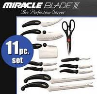 Набор кухонных ножей miracle blade World Class, набор ножей мирэкл блейд, 11 предметов, набор для кухни, ножи