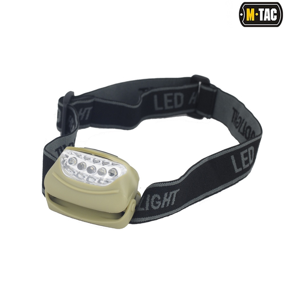 Фонарь налобный 4+1 LED (M-Tac)
