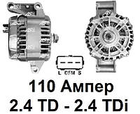 Генератор 110 Ампер на Ford Transit 2.4 TD - 2.4 TDi (00-06). Форд Транзит. Новый. A9021 - AS Poland.
