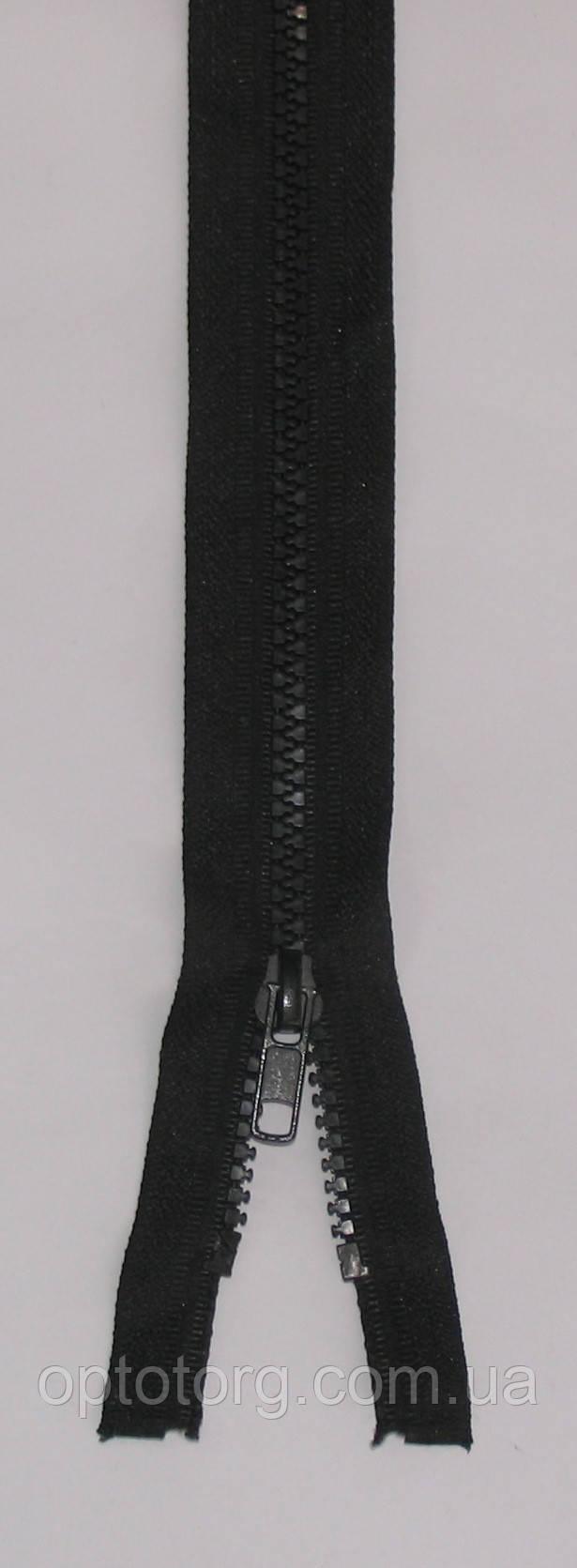 Змейка молния тракторная оптом черная длина 40см