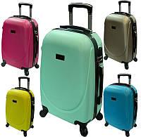 Средний Легкий ударопрочный  пластиковый чемодан на четырёх колёсах