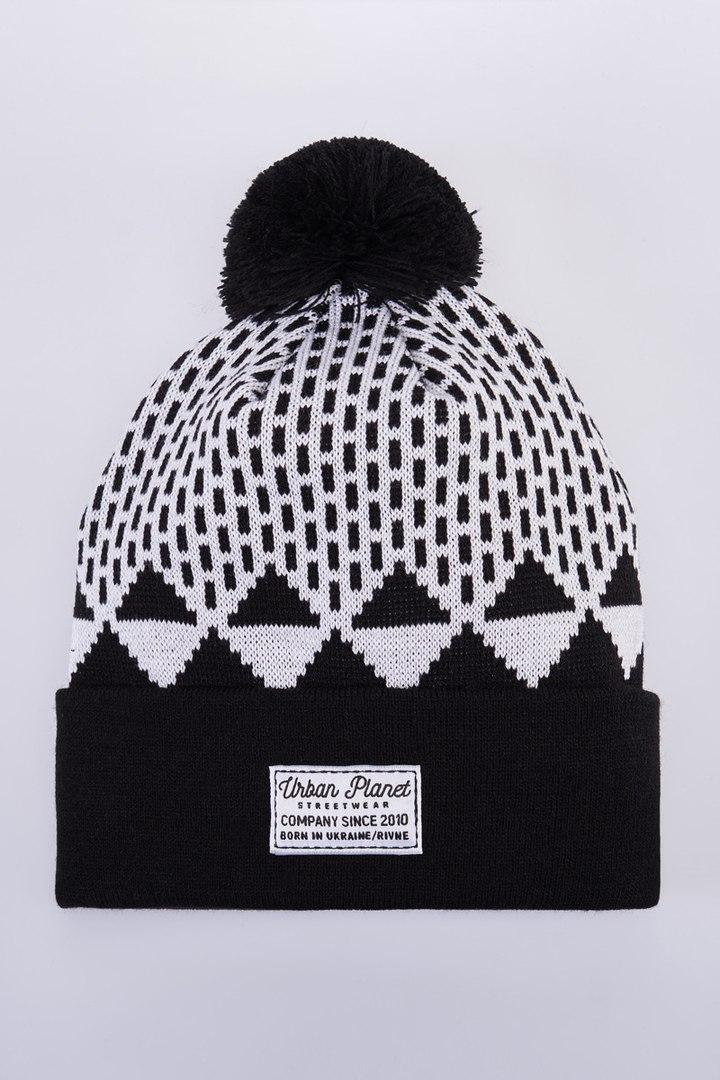 Шапка зимняя двойная Urban Planet C34 DOT (теплая шапка, шапка мужская