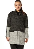Пальто женское шерстяное AW18 DEVERGO 2D723514KA9000 Black/Grey