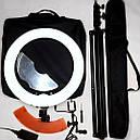 Кольцевая бьюти лампа RL-18 Профи комплект LED Pro Beauty Light 55ВТ 48СМ, фото 2