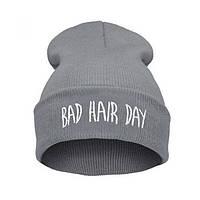 Шапка молодёжная Bad Hair Day, Серая