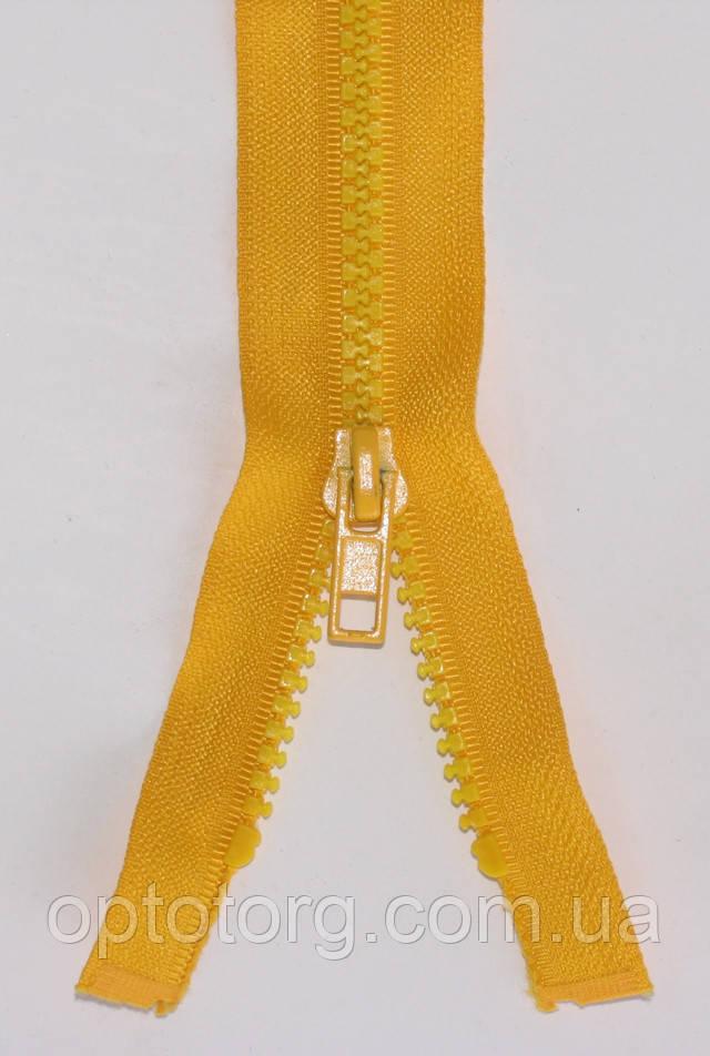 Тракторная молния цвет желток трактор №5 одинарная ширина звена 5мм оптом от optotorg.com.ua