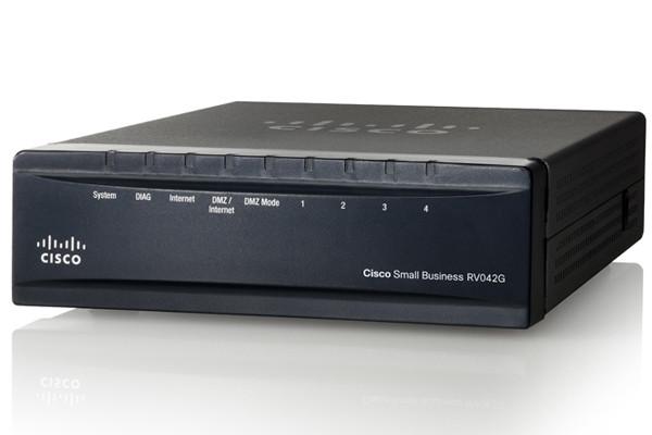 Маршрутизатор Cisco Gigabit Dual WAN VPN Router (RV042G-K9-EU)