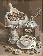 Утренний кофе, серия Букет, рисование по номерам, 40 × 50 см, Идейка