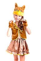 """Детский карнавальный костюм """"БЕЛОЧКА"""" коричневая для девочки"""