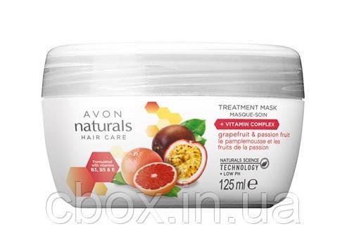 """Маска для волосся з вітамінним комплексом """"Грейпфрут і маракуйя"""", Avon Naturals, Ейвон, 125 мл, 47467"""