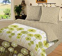 Семейное постельное белье с простыней на резинке 180*200*34 Воздушный танец, поплин 100%хлопок