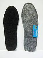 Стельки для обуви на фетре, чёрная натуральная шерсть, р.37