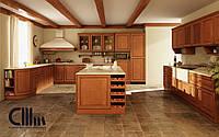 Кухонный фасад деревянной рамой и шпонированной филёнкой СММ DT
