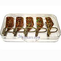Формы многоразовые тефлоновые для наращивания ногтей Lilly, 5 шт.