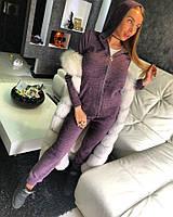 """Костюм Doratti модный кофта на молнии с капюшоном и брюки """"MARGO"""" пряжа шерсть с хлопком разные цвета Ddor723"""
