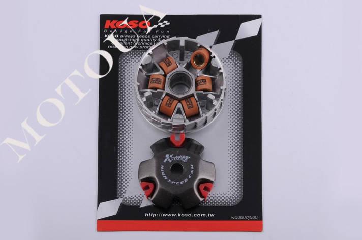 Вариатор передний (тюнинг) Honda DIO AF-18 (медно-граф. втулка, ролики латунь) KOSO, фото 2