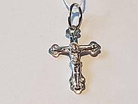 Золотой крестик Распятие Христа. Артикул 11161-бел
