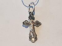 Золотой крестик Распятие Христа. Артикул 11168-бел