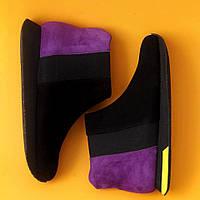 Женские зимние ботинки с натуральным мехом ТМ Momot