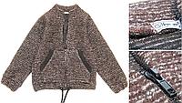 Детский шерстяной пуловер на молнии (р.86-134)