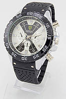 Мужские наручные часы Ferrari (белый циферблат с черным) (Копия)
