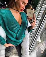 Свитер Doratti женский модный с запахом пряжа шерсть с акрилом разные цвета SSdor229