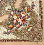Любви желанная пора 1537-1, павлопосадский платок шерстяной (с просновками) с шелковой бахромой, фото 3