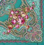 Любви желанная пора 1537-2, павлопосадский платок шерстяной (с просновками) с шелковой бахромой, фото 2