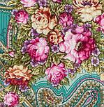 Любви желанная пора 1537-2, павлопосадский платок шерстяной (с просновками) с шелковой бахромой, фото 3
