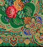 Сказка 390-19, павлопосадский платок (шаль) из уплотненной шерсти с шелковой вязаной бахромой, фото 2
