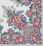 Рококо 1316-1, павлопосадский платок шерстяной с шелковой бахромой, фото 4