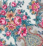 Рококо 1316-1, павлопосадский платок шерстяной с шелковой бахромой, фото 5