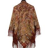 Садко 598-56, павлопосадский платок шерстяной с шелковой бахромой, фото 2