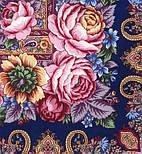 Остановись, мгновенье... 1401-14, павлопосадсая шаль из уплотненной шерсти с шелковой вязаной бахромой, фото 5