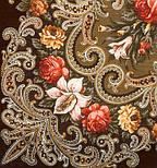 Тайна сердца 1437-17, павлопосадский платок шерстяной с шелковой бахромой, фото 2