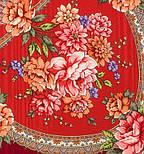 Пелагея 1544-5, павлопосадский платок шерстяной (с просновками) с шелковой бахромой, фото 3