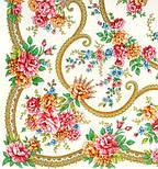 Пелагея 1544-1, павлопосадский платок шерстяной (с просновками) с шелковой бахромой, фото 2