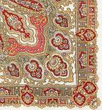 Ольга Лабзина 1008-3, павлопосадский платок шерстяной с шелковой бахромой, фото 2