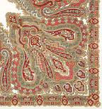 Ольга Лабзина 1008-3, павлопосадский платок шерстяной с шелковой бахромой, фото 3