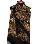 Радоница 920-18, павлопосадский платок (шаль) из уплотненной шерсти с шелковой вязанной бахромой, фото 2