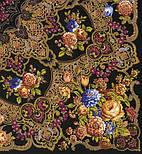 Радоница 920-18, павлопосадский платок (шаль) из уплотненной шерсти с шелковой вязанной бахромой, фото 6