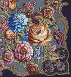 Радоница 920-14, павлопосадский платок (шаль) из уплотненной шерсти с шелковой вязанной бахромой, фото 3
