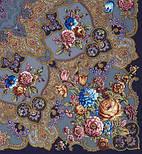 Радоница 920-14, павлопосадский платок (шаль) из уплотненной шерсти с шелковой вязанной бахромой, фото 4