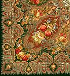 Миндаль 1369-10, павлопосадский платок (шаль) из уплотненной шерсти с шелковой вязанной бахромой, фото 5