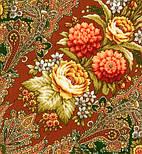 Миндаль 1369-10, павлопосадский платок (шаль) из уплотненной шерсти с шелковой вязанной бахромой, фото 4
