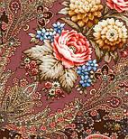 Миндаль 1369-27, павлопосадский платок (шаль) из уплотненной шерсти с шелковой вязанной бахромой, фото 5