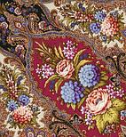 Миндаль 1369-20, павлопосадский платок (шаль) из уплотненной шерсти с шелковой вязанной бахромой, фото 10
