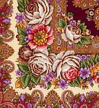 Остановись, мгновенье... 1401-7, павлопосадсая шаль из уплотненной шерсти с шелковой вязаной бахромой, фото 2