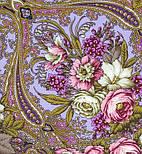 Счастливица 1122-14, павлопосадский платок (шаль) из уплотненной шерсти с шелковой вязанной бахромой, фото 3